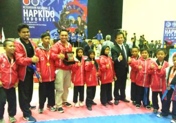 Kejurnas Hapkido II. Wakili Maluku Utara, Atlet Asal Halsel Raih Medali Emas