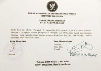 Dinilai Tidak Netral' BAWASLU Malut Di-DKPP Tim Hukum AGK-YA