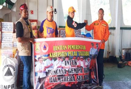 BPBD Pulau Taliabu Salurkan Bantuan Logistik ke Korban Gempa Halmahera Selatan