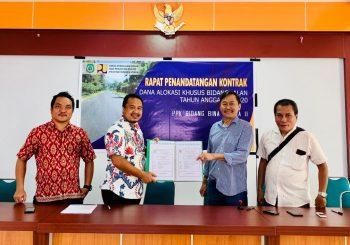 Bina Marga Dinas PUPR Malut Lakukan Kontrak DAK Fisik Bidang Jalan 2020