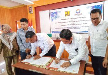Dinas PUPR dan Ombudsman Perwakilan Malut Lakukan Penandatanganan Kerjasama