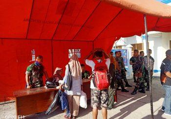 Cegah COVID-19 Kodim 1510 Sanana Screening di Bandara dan Pelabuhan