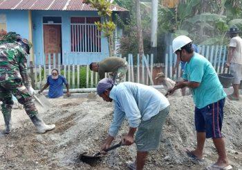 Masyarakat Kepsul Antusias Pembangunan Fisik TMMD Ke-107