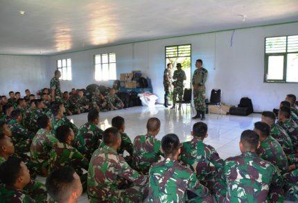 Satgas Pamrahwan Yon Armed-9 Tiba di Sanana