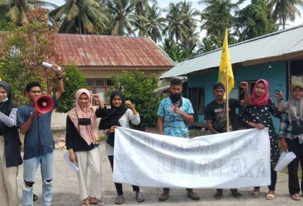 PMII Unibrah Aksi Tolak Omnibus Law
