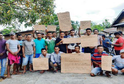 Tidak Transparan Penyaluran BLT, Masyarakat Tanjung Una Seruduk Kantor Desa