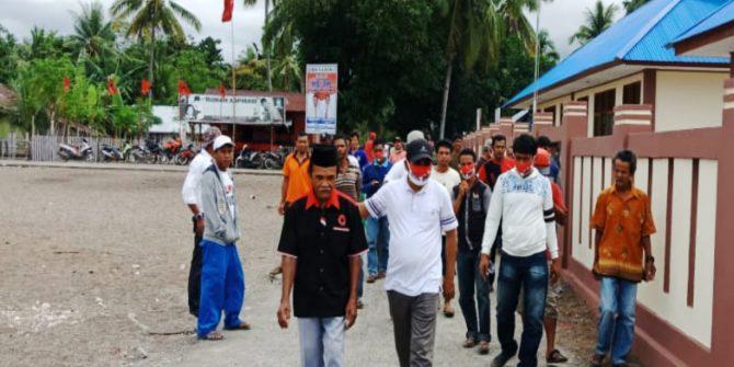 Warga Tanjung Una Antusias Jemput Cawabup Syafruddin Mohalisi