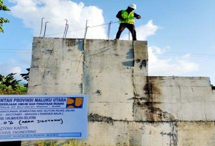 Progres Pekerjaan Jembatan Ake Buton Tahap Pemesanan Rangka Baja