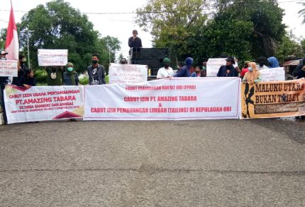 Aksi FPRO Desak Gubenur Cabut Izin Tambang Perusak Lingkungan